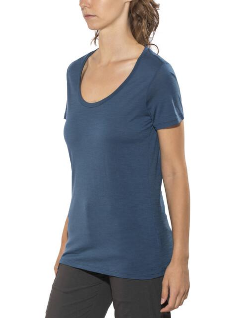 Icebreaker W's Tech Lite SS Scoop Shirt prussian blue